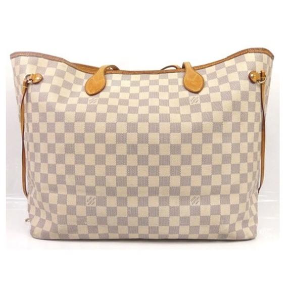 49c341764a2 Louis Vuitton Handbags - Louis Vuitton Neverfull Gm Damier Azur White